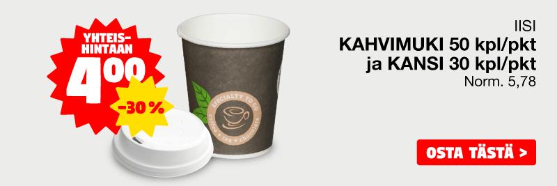 Kahvimuki ja kansi